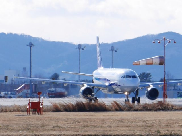 ANA機仙台空港