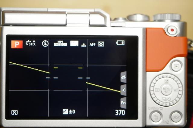 水準器+カメラ設定表示